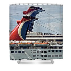 Cruise Ships In Cozumel, Mexico Shower Curtain