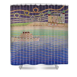 Cruise Vacation Destination Shower Curtain