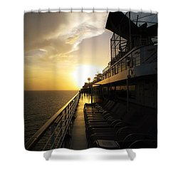 Cruisin' At Sunset Shower Curtain