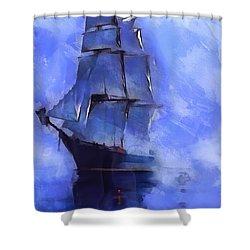 Cruising The Open Seas Shower Curtain