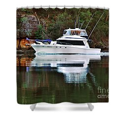 Shower Curtain featuring the photograph Cruising The River By Kaye Menner by Kaye Menner