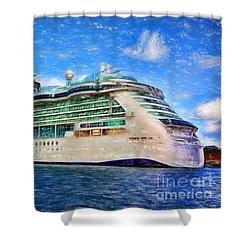 Cruising Thru Life Shower Curtain by Sue Melvin