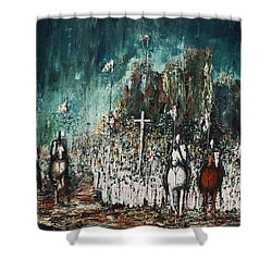 Marching Out Shower Curtain