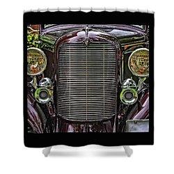 Crusin' With A 32 Desoto Shower Curtain by Thom Zehrfeld