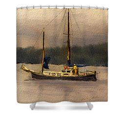 Crusing The Sound Shower Curtain by Dale Stillman