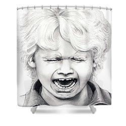Cry Baby Shower Curtain by Murphy Elliott