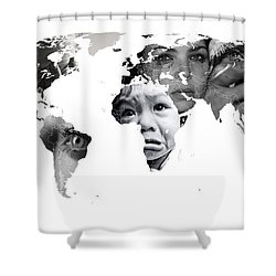 Crying Earth Shower Curtain