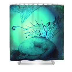 Crying Fairy Shower Curtain