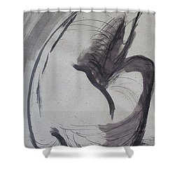 Crying Heart - Nudes Gallery Shower Curtain by Carmen Tyrrell