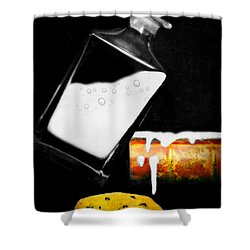 Shower Curtain featuring the photograph Crying Over Spilled Milk by Diana Angstadt