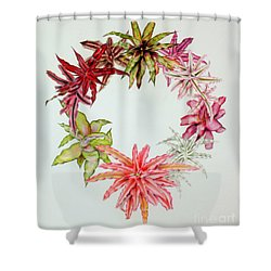 Cryptanthus Wreath Shower Curtain
