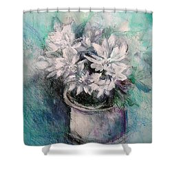 Crysanthymums Shower Curtain by Chris Hobel