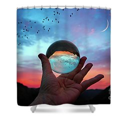 Crystal Ball Shower Curtain