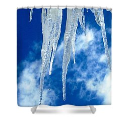 Crystal Blue Shower Curtain by Angela Davies