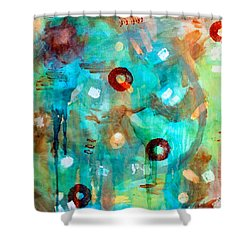 Crystal Blue Persuasion Shower Curtain by Shelley Graham Turner
