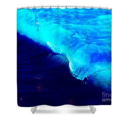 Crystal Blue Wave Painting Shower Curtain by Catherine Lott