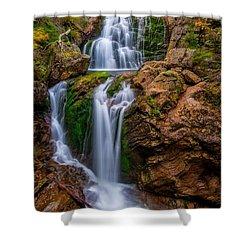 Crystal Cascade Autumn 2016 Shower Curtain by Bill Wakeley