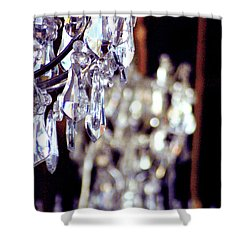 Hall Of Mirrors Versailles Crystal Chandelier Close Up Shower Curtain