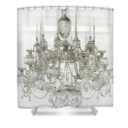 Shower Curtain featuring the photograph Crystal Chandelier by Joseph Hollingsworth