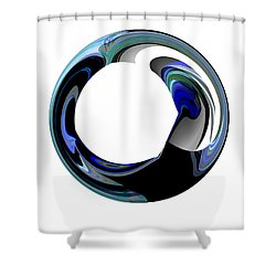 Crystal Alliance Shower Curtain by Thibault Toussaint