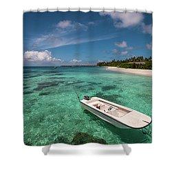 Crystal Clarity. Maldives Shower Curtain by Jenny Rainbow