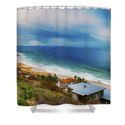 Crystal Cove Beach View Shower Curtain by Joseph Hollingsworth