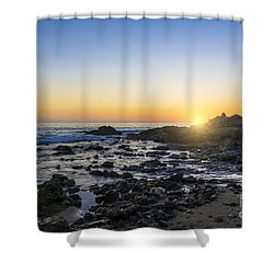 Shower Curtain featuring the photograph Crystal Cove Sunset by Anthony Baatz