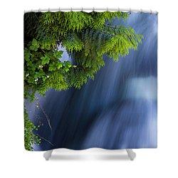 Crystal Creek Waterfalls Shower Curtain