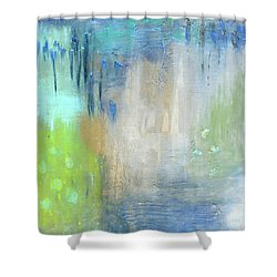 Shower Curtain featuring the painting Crystal Deep  by Michal Mitak Mahgerefteh