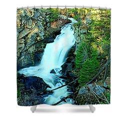Crystal Falls , Washington Shower Curtain