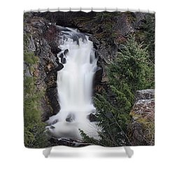 Crystal Falls , Wa Shower Curtain