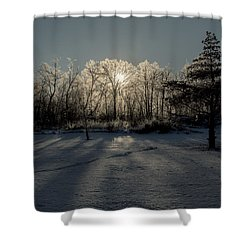 Crystal Glow Shower Curtain by Annette Berglund