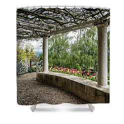 Crystal Hermitage Colonnade 5869 Shower Curtain