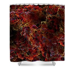 Shower Curtain featuring the digital art Crystal Inspiration Number Two Close Up by Olga Hamilton