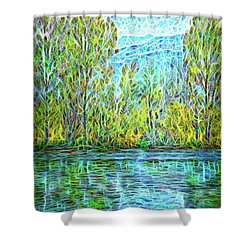 Crystal Lake Enchantment Shower Curtain