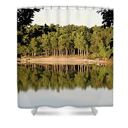 Shower Curtain featuring the photograph Crystal Lake In Whitehall Mi by Ferrel Cordle