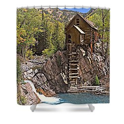 Shower Curtain featuring the photograph Crystal Mill 5 by Marty Koch