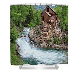 Crystal Mill Colorado Shower Curtain