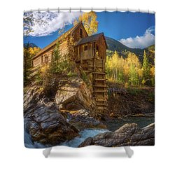 Crystal Mill Morning Shower Curtain by Darren White