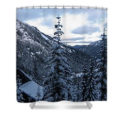 Crystal Mountain Dawn Shower Curtain