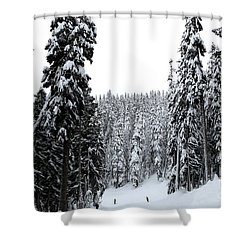 Crystal Mountain Skiing 2 Shower Curtain