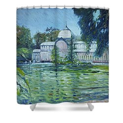 Crystal Palace Madrid Spain 2016 Shower Curtain by Enver Larney