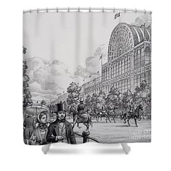 Crystal Palace Shower Curtain by Pat Nicolle