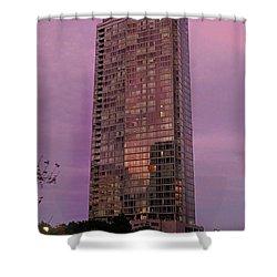 Crystal Skyscraper Sunset Shower Curtain