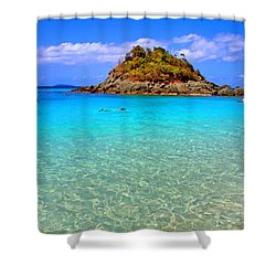Crystal Waters Shower Curtain by Scott Mahon