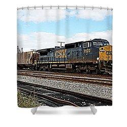Csx Cw40-8 7922 Shower Curtain by John Black
