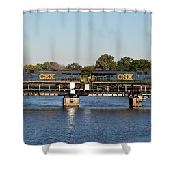 Csx On Mills Bayou Shower Curtain by John Black