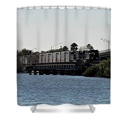 Shower Curtain featuring the photograph Csx Over The Alafia by John Black