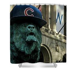 Cub Hat On Art Institute Lion Telephoto Shower Curtain