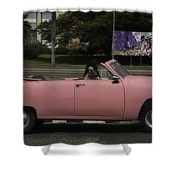 Cuba Car 5 Shower Curtain